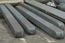 Steel rectangles prepped for forging